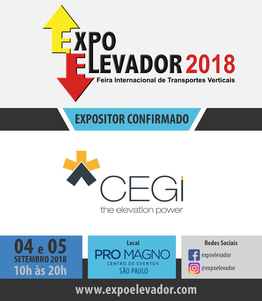 CEG Innova será expositor de ExpoElevador 2018 que se celebrará en Brasil los días 4 y 5 de septiembre