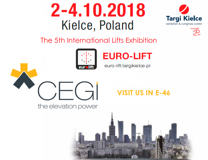 Euro-Lift, Kielce, Polonia 2018, participación CEGInnova stand E46 2018